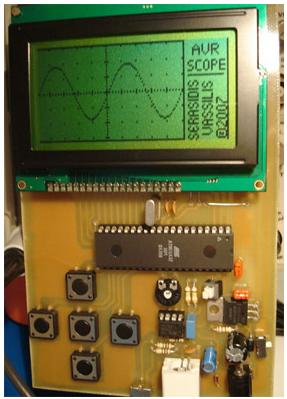 Портативный осциллограф на микроконтроллере ATmega32.