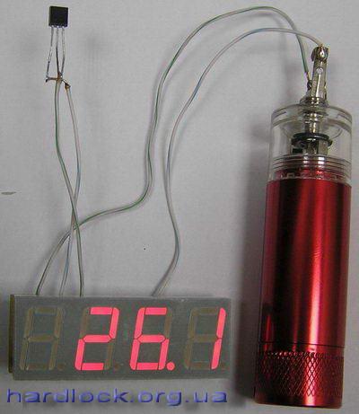 Термометр на ATtiny2313 и DS18B20 (ATtiny2313, С)