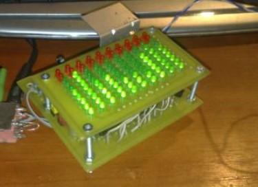 10-ти полосный светодиодный анализатор спектра