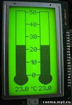 LCD-термометр