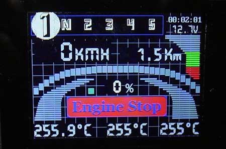 Бортовой компьютер для мотоцикла с LCD от Nokia 6280