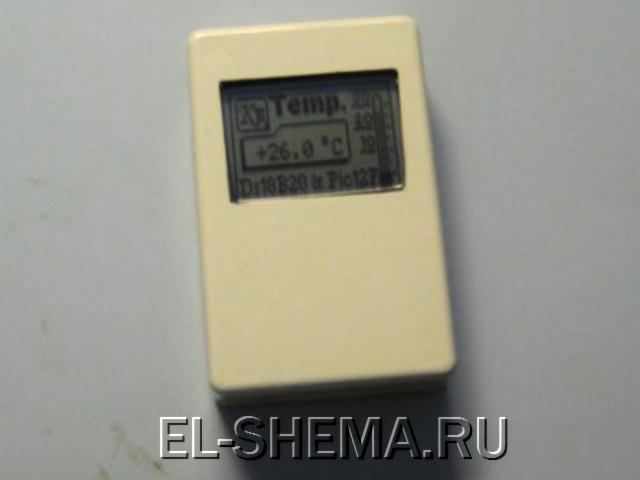 ТЕРМОМЕТР НА МИКРОКОНТРОЛЛЕРЕ PIC12F629 и дисплее Nokia 3310