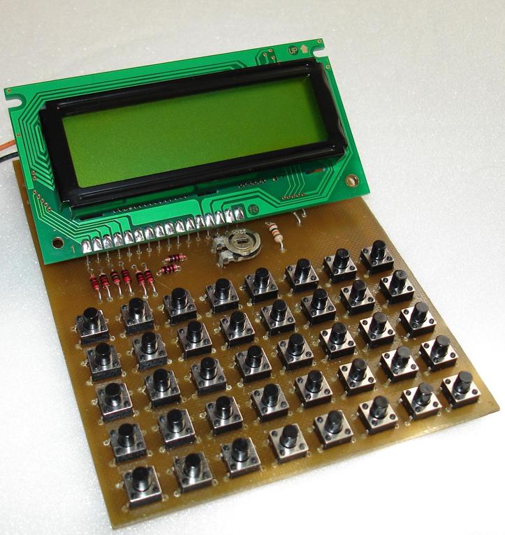Самодельный калькулятор на микроконтроллере PIC16F873