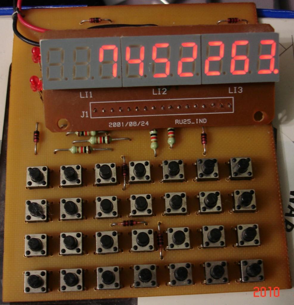 калькулятор на светодиодных индикаторах