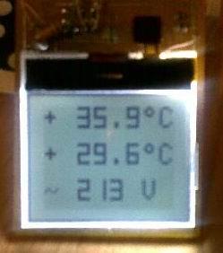 Термометр+вольтметр от сети