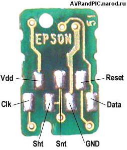Ресетер чипов картриджей принтеров Epson.